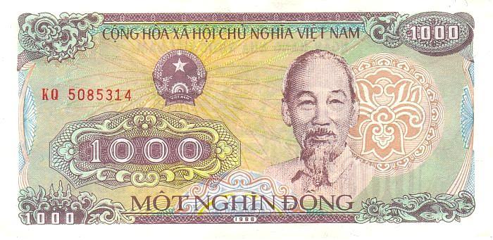 Vietnamesische geldscheine